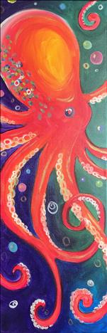 TALL Canvas: Vivid Octopus