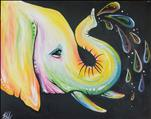 New Art! Neon Elephant Love- Family/Kids