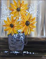 """Sunflowers in Tin"""
