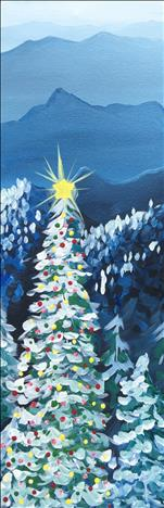 *10x30 Canvas* Smoky Mountain Christmas