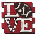 Love Football Door Hanger - 13&Up