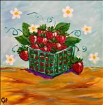 12 x 12 Canvas!  Summer Fruit - Strawberries