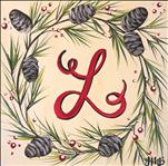 *12x12* Pinecone Monogram Wreath