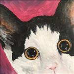 Peekaboo Paint Your Pet on a 12X12-$55