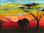 Coffee & Canvas - African Sunset
