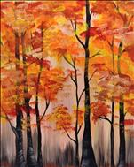 *Coffee n Canvas* Abstract Fall Forest