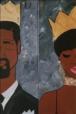 *BFF/DATE NIGHT! 10x30 LONG CANVAS* Classy Royalty