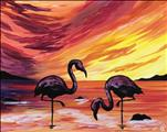 Beautiful Florida Flamingos on the Beach!