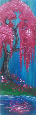 NEW! - Flowering Pink Willow - LONG CANVAS