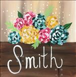 Personalized Flower Box 12x12