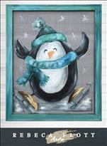 NEW-Rebeca Flott Screens-Penguin's Happy Feet-$45