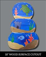 "Stacked Fishbowls 18"" Wooden Cutout - Only $35!"