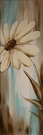 "Hazy Daisies on 10x30"" canvas"