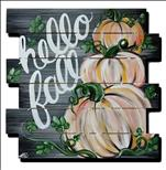 **WOODEN PALLET** Rustic Fall Pumpkins