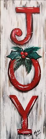*TALL ART* Christmas Sign - JOY (Adults 18+)