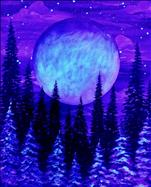 Black Light Tuesday - Winter's Harvest Moon Forest