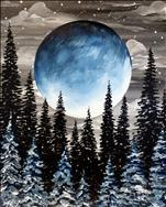 Blue Harvest Moon Forest