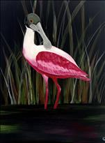 NEW ART:Roseate Spoonbill at Huntington Beach, SC