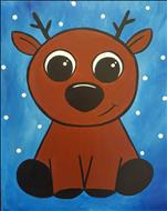 FAMILY PAINTING-Cute Baby Reindeer