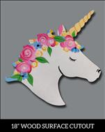 *UNICORN CAMP* Day 2: Spring Unicorn Door Hanger