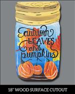 Autumn Leaves Jar Cutout