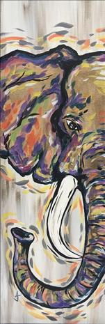 NEW! 10x30 Canvas - Peekaboo Elephant (Ages 16+)