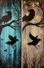 "NEW Art -- Nevermore, 10""x30"" Canvas (pick a side)"