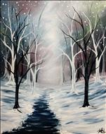 Pastel Winter Forest & Free Wine