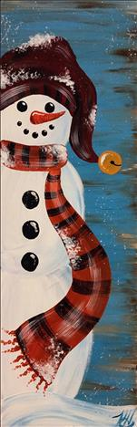 Chilly Rustic Snowman Pallet-Happy Hour $2 drinks
