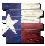 Texas Night! Flag Pallet Art