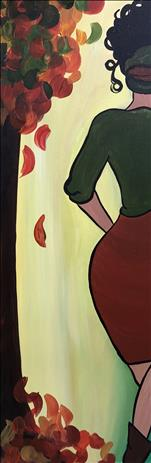 NEW ART-Fall Strut on a 10X30 Canvas