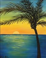 Tropical Teal Sunset *GloArt*