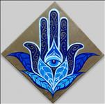 Lotus Hamsa 12X12 NEW ART!