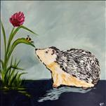 *12x12 Canvas* Happy Hedgehog