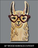 Sweetie the Llama Wood Cutout