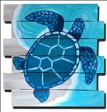 Coastal Series - Mosaic Turtle On Canvas