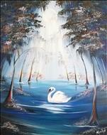 **PASTRY, COFFEE AND CANVAS** Misty Swan River