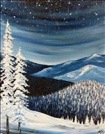 NEW! Starry Winter 16X20 Canvas or Wooden Board