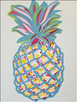NEW ART- Neon Pineapple- For All Ages!
