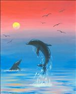 Key West Dolphins at Sunset!
