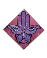 Butterfly Lotus Hamsa *Square Canvas*