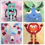 You Choose Your Monster! Square Canvas!