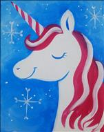 Candy Cane Unicorn-Adorable FUN! 6+