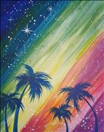FAMILY PAINTING-Rainbow Galaxy Beach