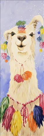 NEW ART-Adorned Llama on a 10X30 for ALL!