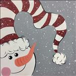Open -Snowy Holiday Frosty 12x12 canvas