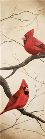 10x30 NEW ART: Woodland Cardinal