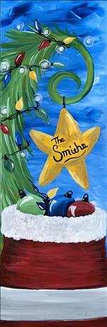*10x30 Canvas* Customize Your Christmas Tree Star