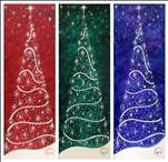 Long Canvas - Twinkle Tree - Choose Your Color!