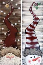 Choose Rustic SnowMan or Santa*